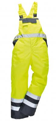 OXFORD 300D zateplené nohavice na traky reflexné