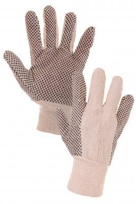GABO rukavice textilné s PVC terčíkmi