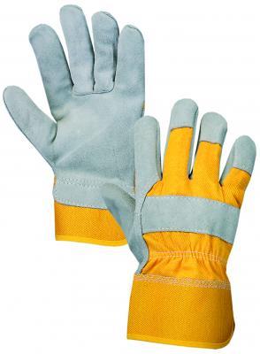 DINGO rukavice kombinované koža/textil