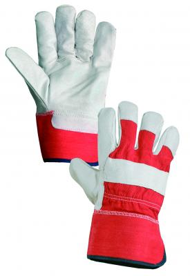 BUDY rukavice kombinované koža/textil