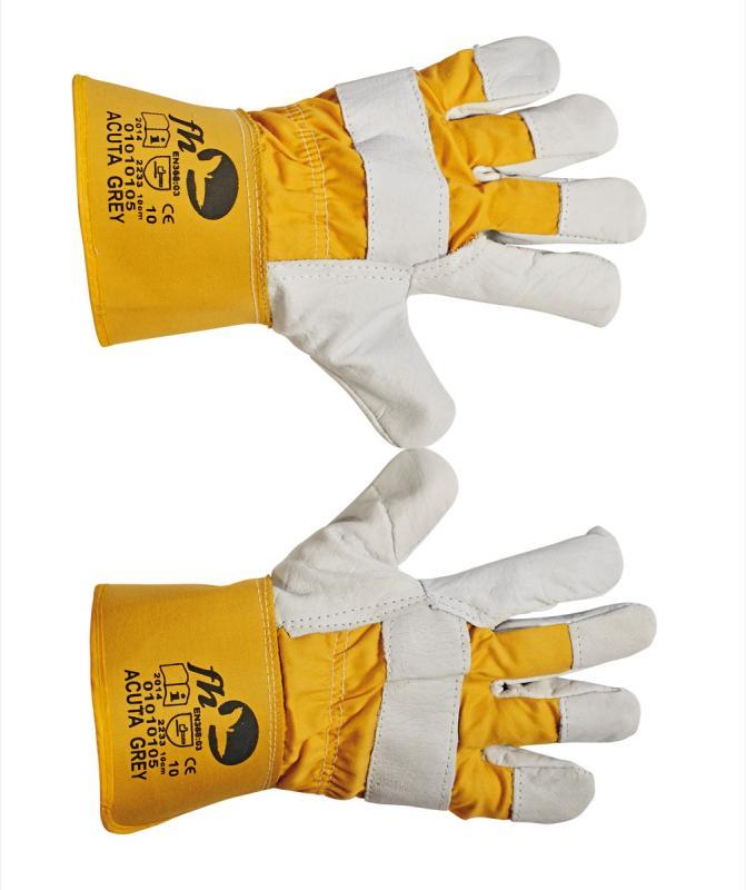 ACUTA GREY rukavice kombinované koža/textil