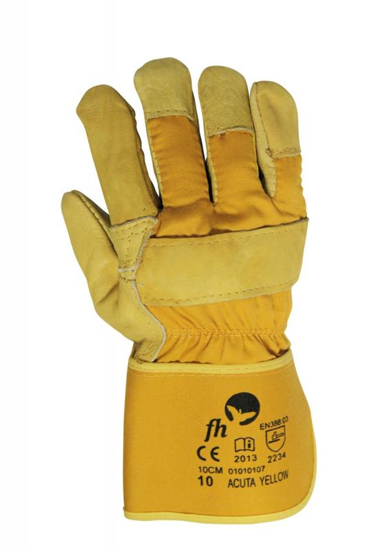 ACUTA YELLOW rukavice kombinované koža/textil