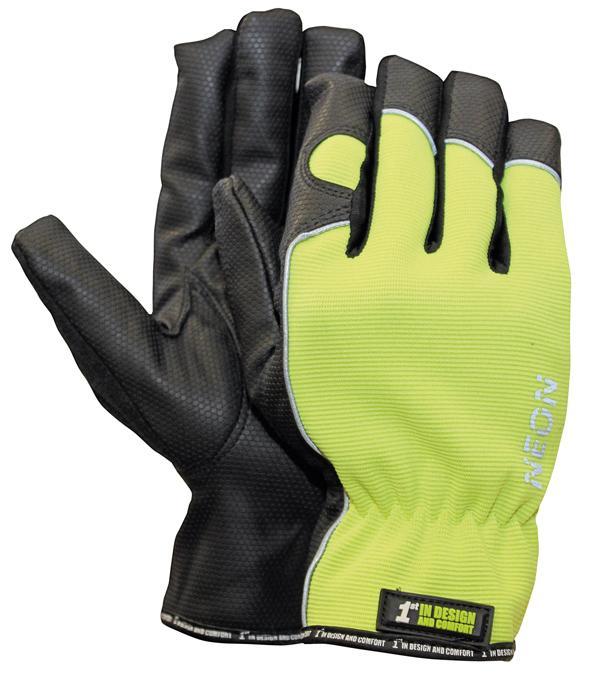 1st NEON rukavice kombinované