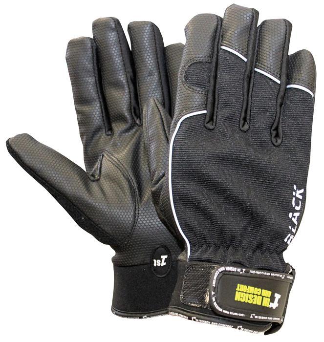 1st BLACK rukavice kombinované
