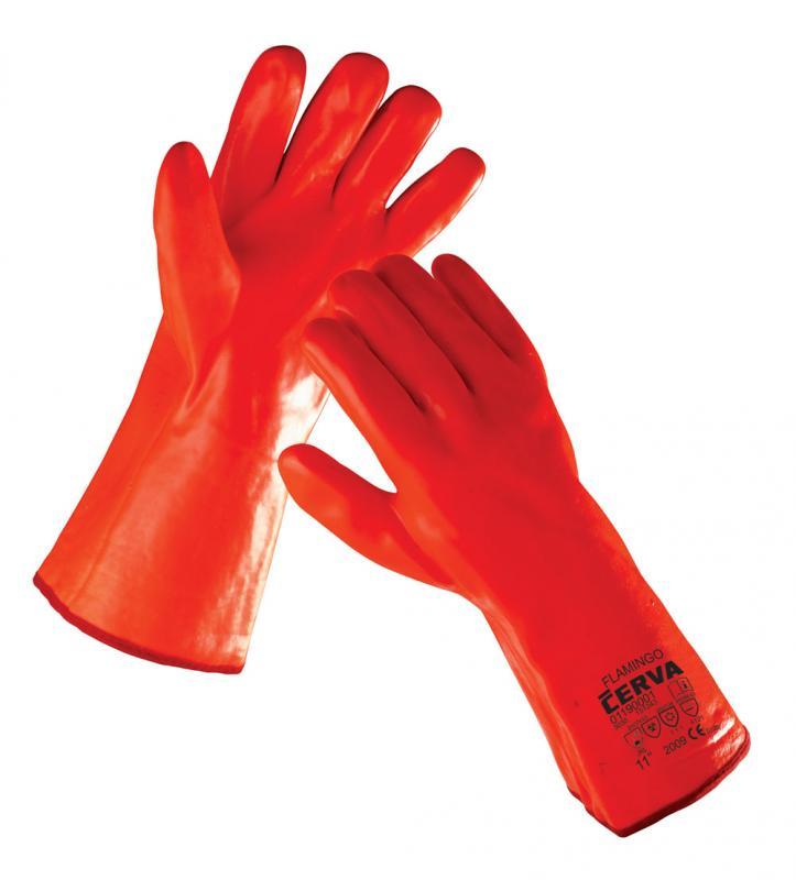 FLAMINGO rukavice chemické zateplené