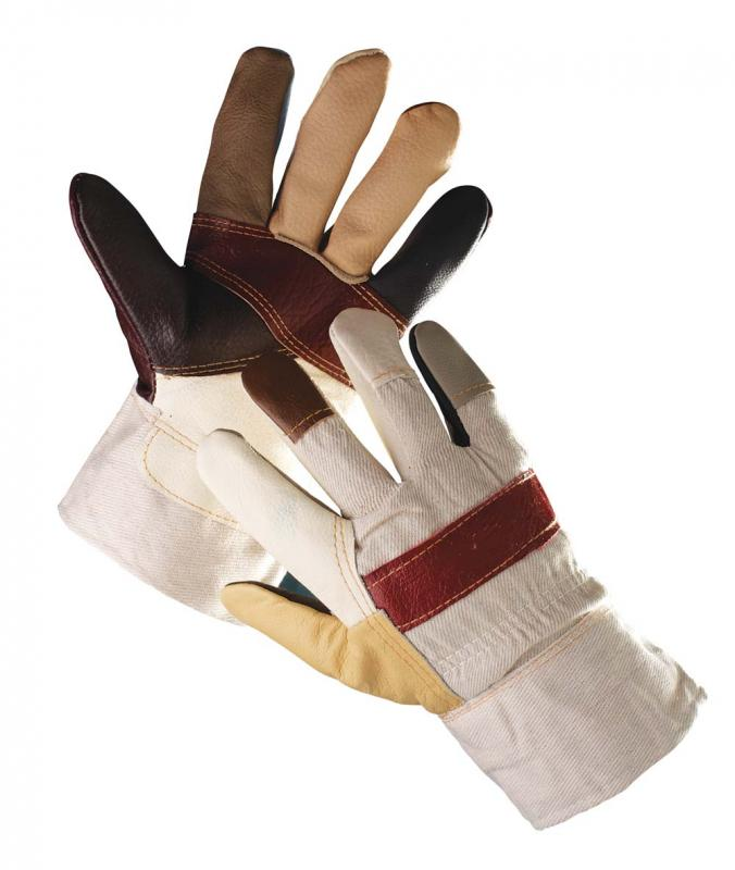 FIREFINCH rukavice kombinované koža textil